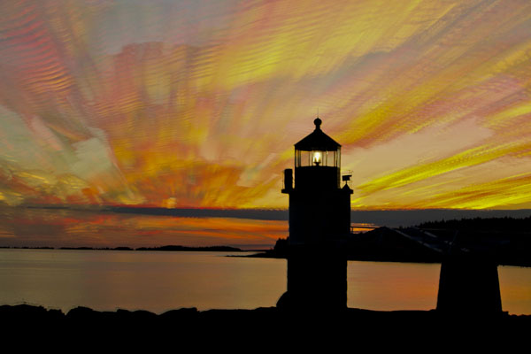 marshall point lighthouse sunset cloud stack