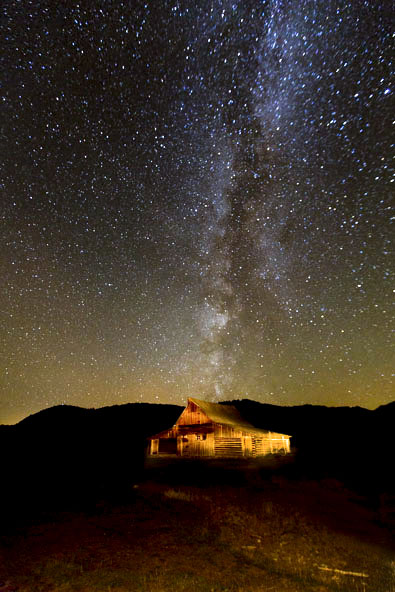 Milky Way above Moulton Ranch Tetons