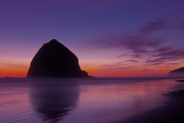 oregon coast bandon beach sunset photo