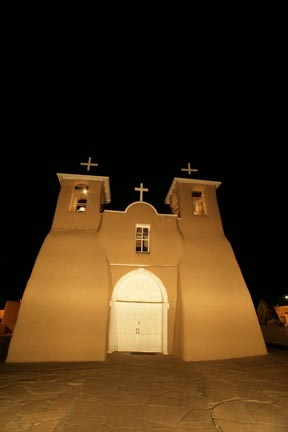 San Francisco de Asis at Night Taos New Mexico photo