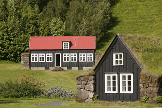 skogar folk museum sod houses iceland photo
