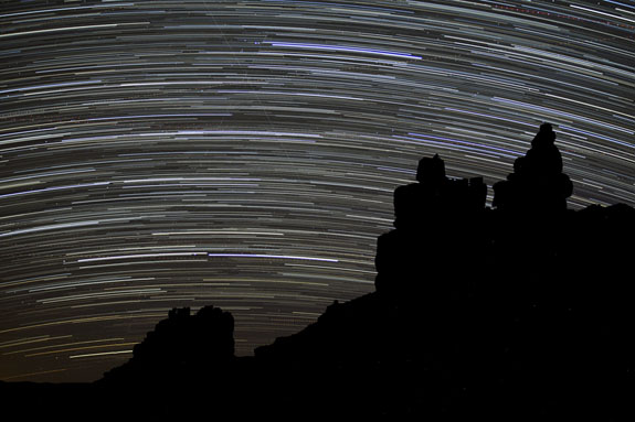 santa clause valley of the godss star trails