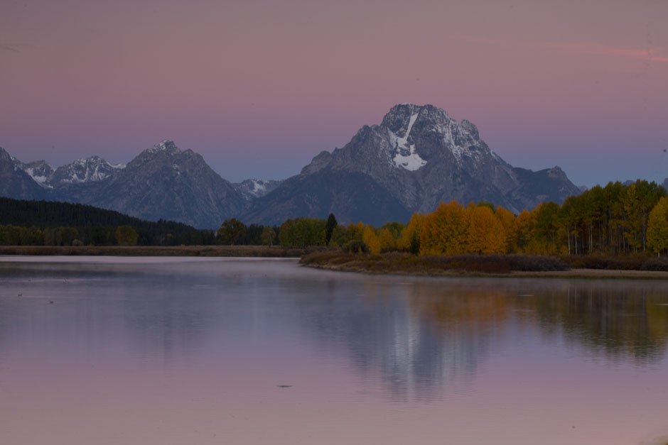 oxbow bend mount moran sunrise
